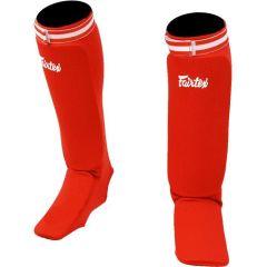 Защита голени и стопы Fairtex SPE1 red