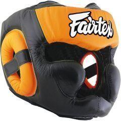 Боксерский шлем Fairtex Extra Vision orange
