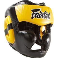 Боксерский шлем Fairtex Extra Vision yellow