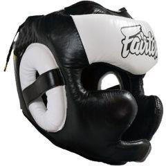 Боксерский шлем Fairtex Extra Vision white
