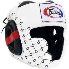 Боксерский шлем Fairtex Super Sparring white