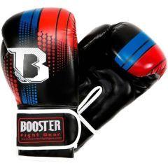 Боксерские перчатки Booster Sparring black - red - blue