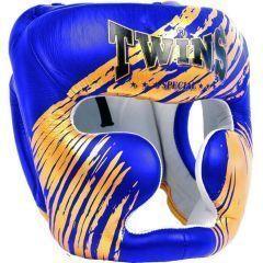 Боксерский шлем Twins Special blue - gold