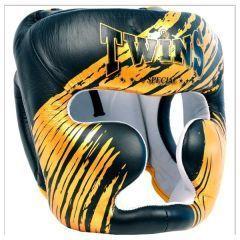Боксерский шлем Twins Special black - gold