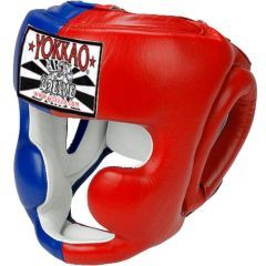 Боксерский шлем Yokkao Green Thai Flag Boxing Head Guard