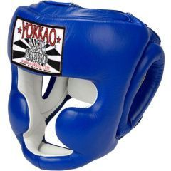 Боксерский шлем Yokkao Blue Training Head Guard