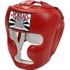 Боксерский шлем Yokkao Red Training Head Guard