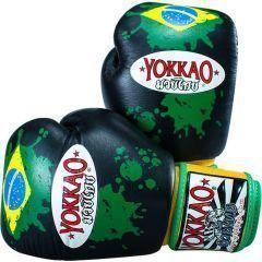 Боксерские перчатки Yokkao Brazilian Flag