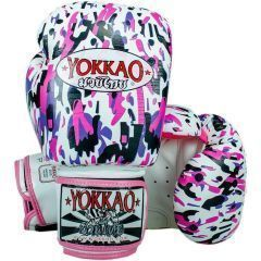 Боксерские перчатки Yokkao Apache white
