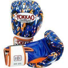 Боксерские перчатки Yokkao Apache blue