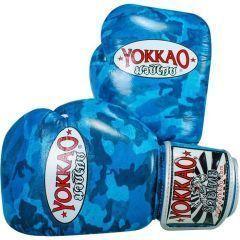 Боксерские перчатки Yokkao Blue Army
