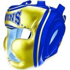 Боксерский шлем Twins Special blue - yellow