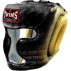 Боксерский шлем Twins Special black - yellow