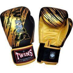 Перчатки боксерские Twins Special black - gold
