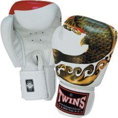 Перчатки боксерские Twins Special white - black - gold