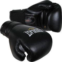 Боксерские перчатки Everlast Protex2 leather - черный