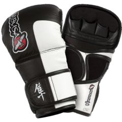 Гибридные мма перчатки Hayabusa Tokushu 7oz Hybrid Gloves bl-wh