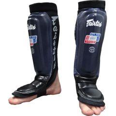 Шингарды (накладки на ноги) для ММА Fairtex blue - black