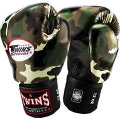 Боксерские перчатки Twins Special green camo