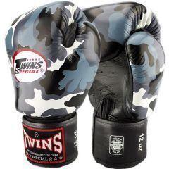 Боксерские перчатки Twins Special blue camo