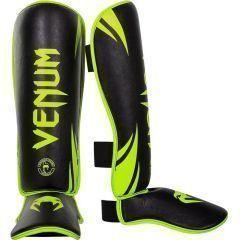 Защита голени и стопы (шингарды) Venum Challenger green