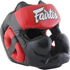 Боксерский шлем Fairtex Extra Vision red