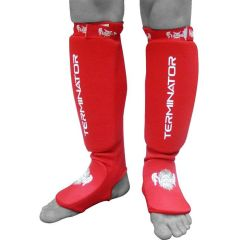 Защита голени и стопы (шингарды) Flamma Terminator red