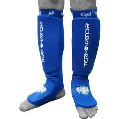 Защита голени и стопы (шингарды) Flamma Terminator blue