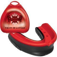 Боксерская капа Flamma Terminator black - red
