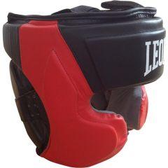 Боксерский шлем Leone Professional black - red