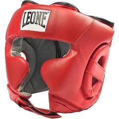 Боксерский шлем Leone red