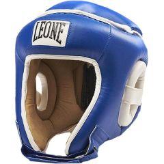 Боксерский шлем Leone Combat blue