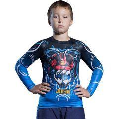 Детский рашгард Jitsu Soundwave Blue