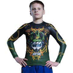 Детский рашгард Jitsu Soundwave Olive