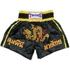 Детские шорты для тайского бокса Twins Special black - yellow