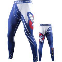 Компрессионные штаны Hayabusa Recast blue - white