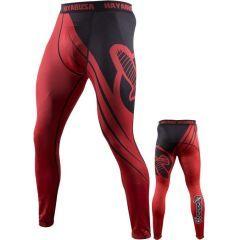 Компрессионные штаны Hayabusa Recast black - red