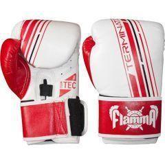 Боксерские перчатки Flamma Terminator white