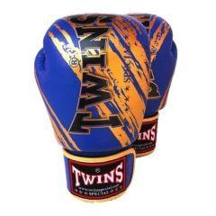 Боксерские перчатки Twins Special blue gold
