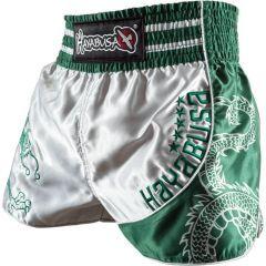 Шорты для тайского бокса Hayabusa Sacred silver - green