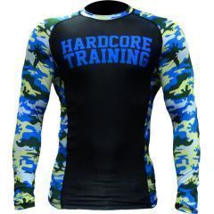 Рашгард Hardcore Training Camo 2.0 black - blue