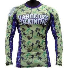 Рашгард Hardcore Training Camo Fight green - blue