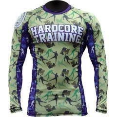 Рашгард Hardcore Training Camo Fight green - blue