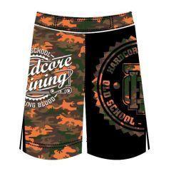 Детские MMA шорты Hardcore Training Camo black - orange