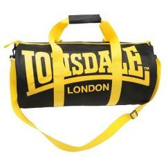 Спортивная сумка Lonsdale Barrel black - yellow