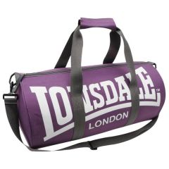 Спортивная сумка Lonsdale Barrel purple - white
