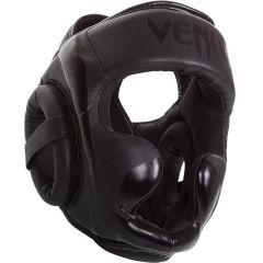 Боксерский шлем Venum Elite black - gray
