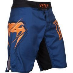MMA шорты Venum Train Hard Hit Heavy blue - orange