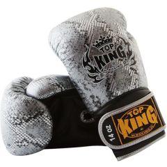 Перчатки боксерские Top King Boxing Snake Silver