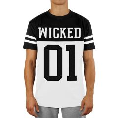 Футболка Wicked One Quarterback black - white